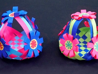 How to Make Beautiful Paper Basket - Tutorial