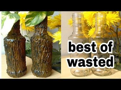 How to make bottle vase very easy