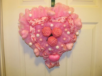 How To Make Carmen's Breast Cancer Awareness Heart Wreath