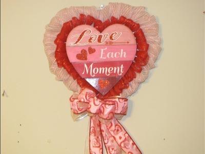 How To Make Carmen's Love Each Moment DollarTree Heart Wreath