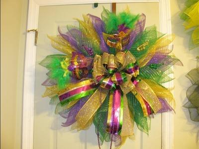 How To Make Carmen's Mardi Gras Deco Mesh Flower
