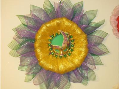 How To Make Carmen's Masquerade Mardi Gras Wreath