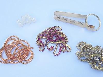 How To Make Designer Waist Chain At Home   Waist key chain   Bridal Waist chain   DIY   Uppunutihome