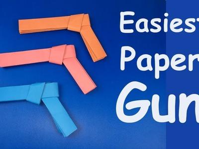 How To Make  Easiest Paper Gun Origami Tutorial