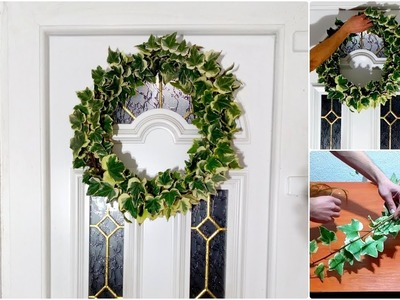 How To Make English Ivy Wreath. Door Decorating Ideas