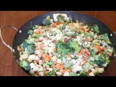 How to make frozen vegetable fried Rice