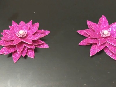 How to make lotus flower at home using paper easy diys
