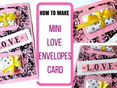 How to make Mini Envelope Card for boyfriend,friend,anniversary,valentines day.