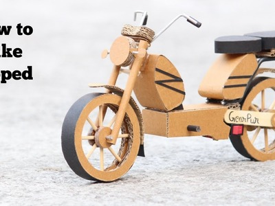 How To Make Moped From Cardboard || DIY || Very Simple