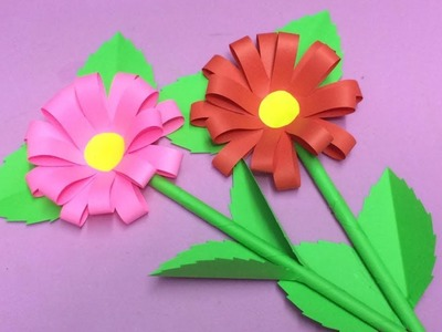 How to Make Paper Flower | Making Paper Flowers Step by Step | DIY-Paper Crafts