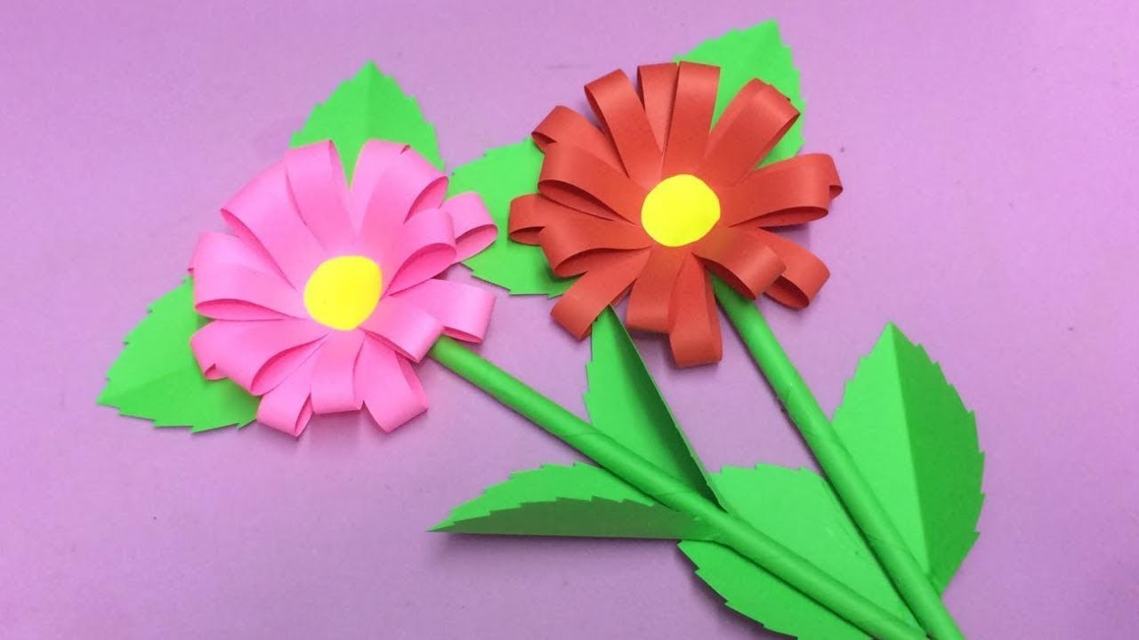How To Make Paper Flower Making Paper Flowers Step By Step Diy