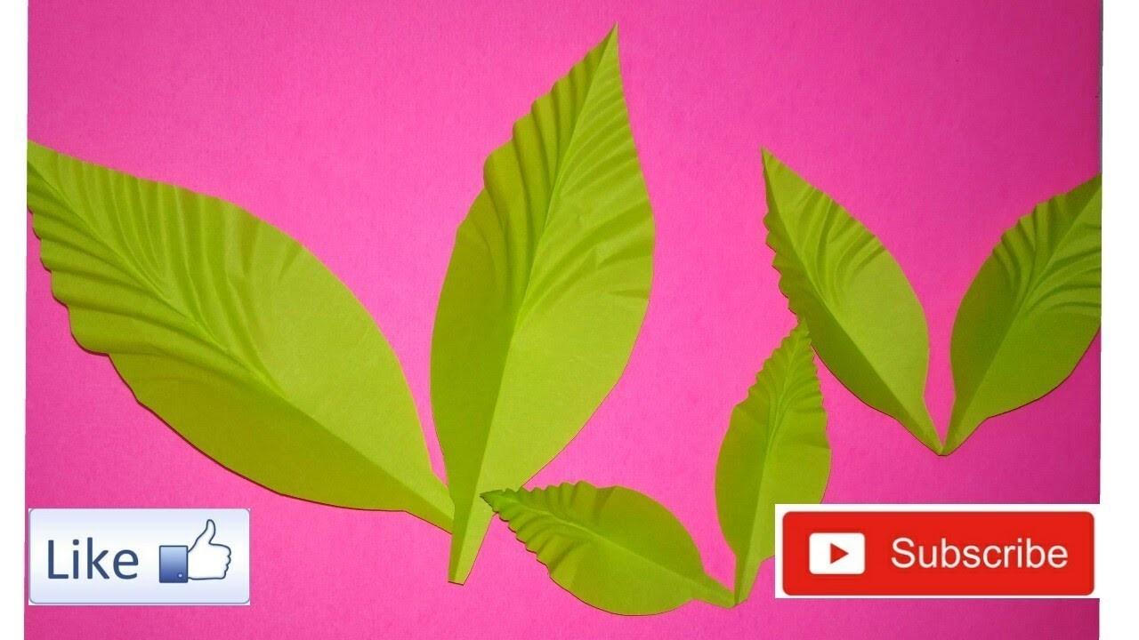 How to make paper leaf ||Fine Art Life