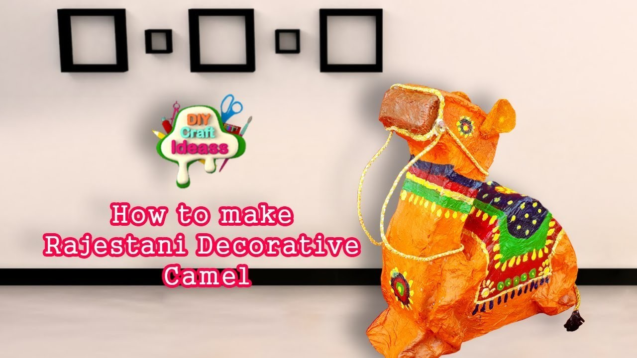 How to make Rajestani Decorative CamelDecorative Camel|Best out of wasteII DIY Craft Ideas
