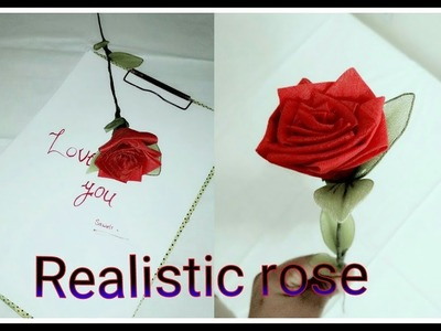 How to make realistic and easy rose with cloth(organdy) ||Fine Art Life