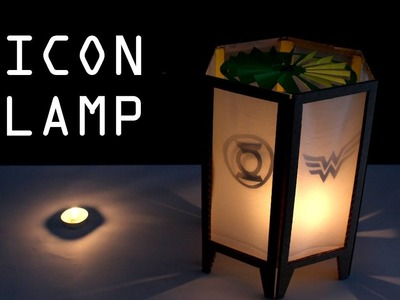How to make SPINNING ICON LAMP for Christmas - Just5mins