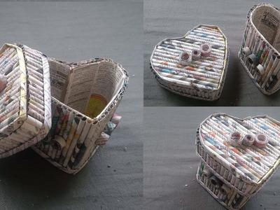 How to make Storage box using Newspaper and Cardboard | Newspaper 12 | All type videyos