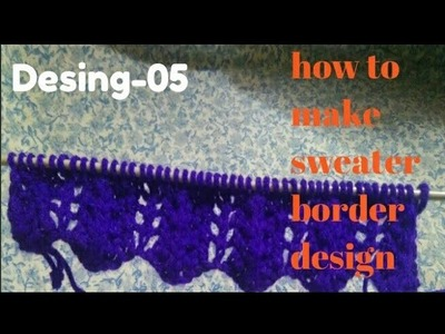 How to make sweater border design very easy method desig-5