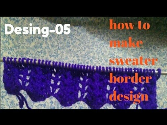 How to make sweater border design very easy method desig-5