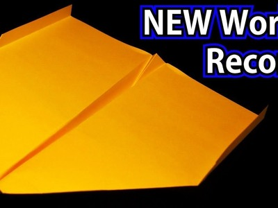 How To Make The NEW WORLD RECORD Paper Airplane -2018- BEST paper plane. Sky King