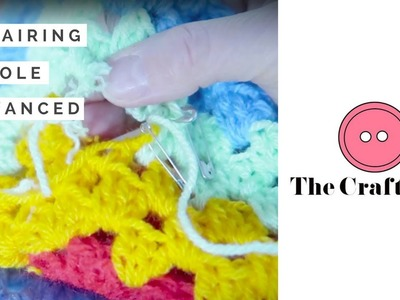 How to repair a hole in a crochet blanket