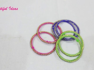 How to Reuse Old Metal Bangles at Home.Best Out Of Waste. Beautiful Ideas.Woolen thread Bangles.DIY
