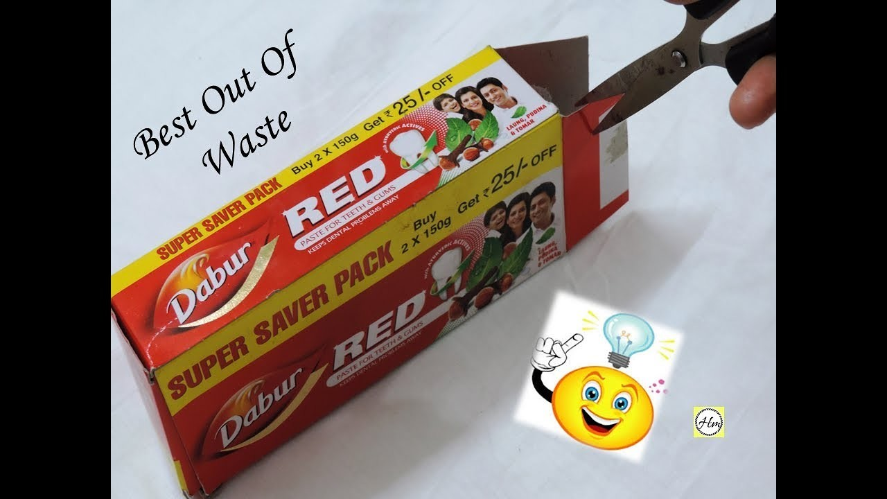 How to reuse your waste colgate packet   recycle colgate packet craft  best out of waste craft