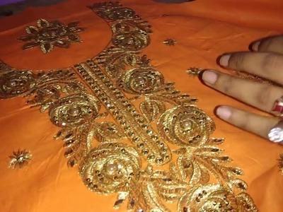How to stitching kadai neck in ready made  assani se banaye kadai bale neck shaeen selai