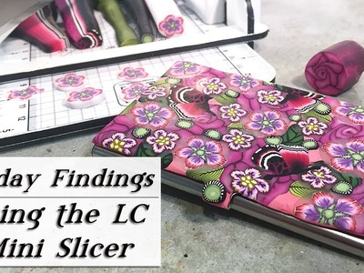How To Use The LC Mini Slicer For Slicing Polymer Clay Canes-Friday Findings