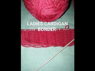 LADIES CARDIGAN BORDER NO.2 KIDS BORDER KNITTING DESIGN