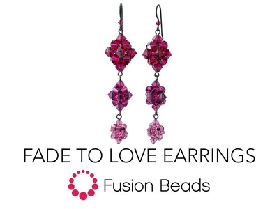 Learn how to create the Fade to Love Earrings by Fusion Beads