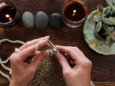 Meditation Knitting Video Series : Day 5 : Create Consistent Stitches