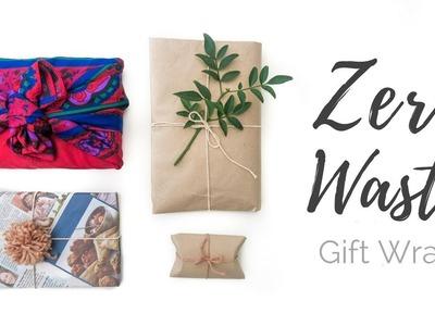 Minimalist Gift Wrapping ❄ NO TAPE  & How To Make A  Pom Pom!
