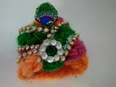 (No crochet ) Easy Woolen Pagh For Bal Gopal | How To | CraftLas