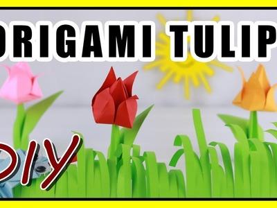 Origami Flower ???? Easy Paper Tulip [Life Hacks]