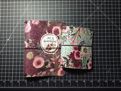 Paper Dori. TN Covers using Faux leather. Vinyl and Decoupage Glue