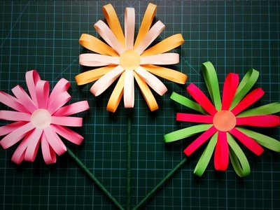 Paper Flower Decoration | How To Make Beautiful Paper Flower Decoration | DIY Paper Flower Decor
