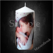 Personalised Photo Candle Small 7.5 x 7 cm