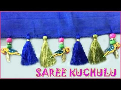 Saree kuchu making with parrots | how to make designer saree kuchu using parrots