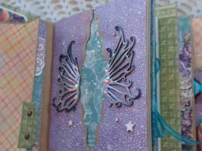 Scrapbook Mini Album Using Graphic 45 Fairy Dust and ReneaBouquets
