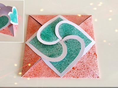 Sealed With Heart Envelope Card Tutorial. DIY. Tricolour Heart Lock Envelope | Priti Sharma