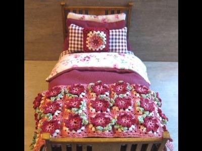 1.12th Scale Single Bed Tutorial - Part Three - Crocheted Throw & Cushion