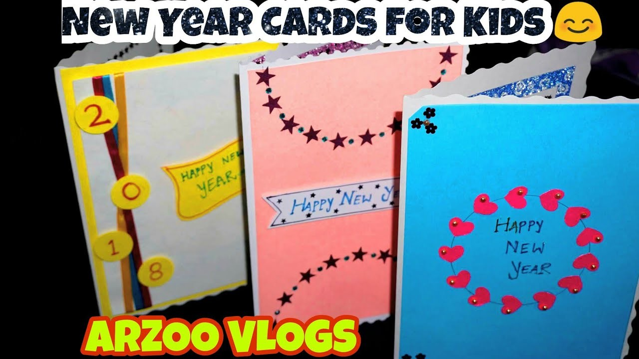 cute simple new year cards new year greeting card making for kids arzoo vlogs