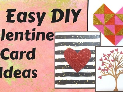 3 DIY Valentine cards❤|| Birthday cards for the one you love