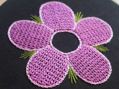 Beautiful hand embroidery Raised chain stitch for dresses