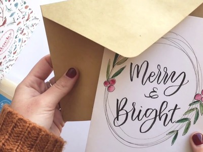 Calligraphy Christmas Card Tutorial - Part 2.
