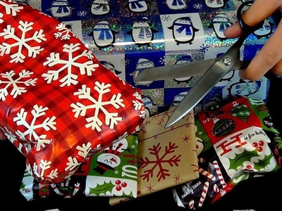 Christmas ASMR - Binaural Gift Wrapping [Crinkling, Cutting, and More!]