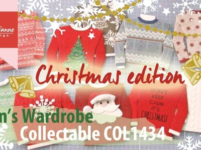 Christmas sweaters with the COL1434   Marianne Design Cardmaking   Foute Kersttruien