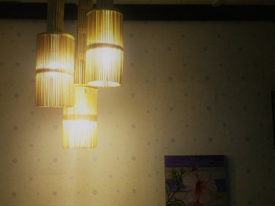 D.I.Y. Lamp from popsicle stick (Hanging)