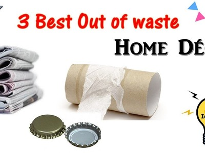 DIY 3 Best out of waste home decor ideas   door hanging and wall hanging ideas   home decor ideas