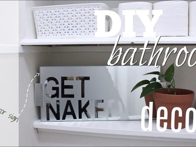 DIY Bathroom Decor | Frosted Mirror Sign